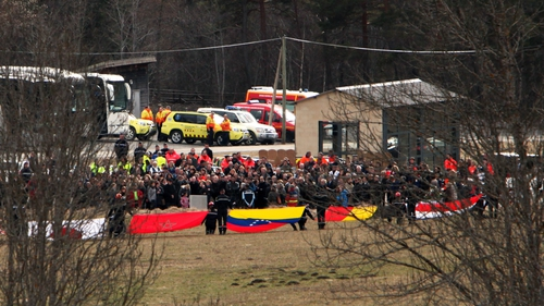 Relatives of the victims arrive at the crash site in southern France