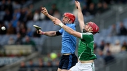 Paudie O'Brien of Limerick with Ryan O'Dwyer of Dublin