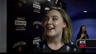 Saoirse Ronan talks to Alan Corr on the red carpet for Lost River