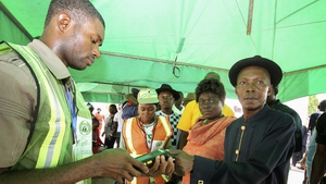 Hand-held card readers that scan biometric data malfunctioned or failed at various polling stations across Nigeria