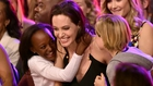 Angelina Jolie and her children Zahara Marley and Shiloh Nouvel