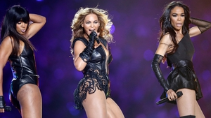 Destiny's Child performing at the Super Bowl half time show in 2013