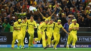 Australia celebrate at the final whistle