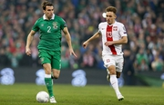 Seamus Coleman breaks down the wing for Ireland