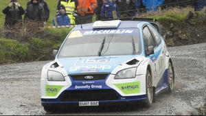 Donagh Kelly leads the Triton Showers National Rally Championship by seven points