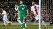 Robbie Keane hit the woodwork for Ireland