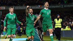 Shane Long's dramatic late goal meant Ireland earned a point at Aviva Stadium