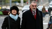 Ian Bailey, pictured with his partner Jules Thomas, spent nine days in the witness box