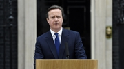 David Cameron made a speech in front of 10 Downing Street