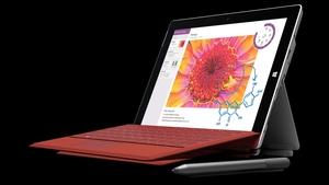 The Surface 3 runs on Intel's new quad core Atom x7