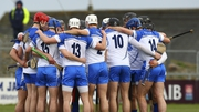 Waterford hurlers in a huddle prior to their league quarter-final win over Galway