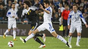 Marouane Fellaini's early goal gave Belgium a 1-0 win