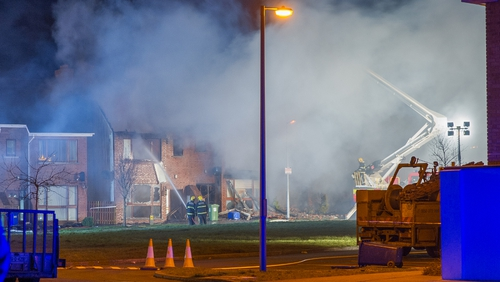 The fire broke out at Millfield Manor housing estate in Newbridge (credit: Dean Kelly Photography)