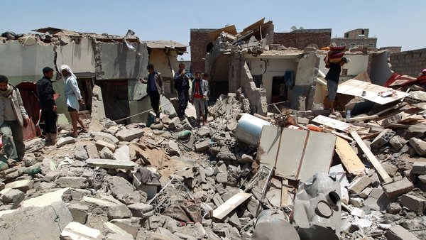 The UN said on Tuesday that at least 93 civilians had been killed since the nearly week-old Saudi-led air campaign began