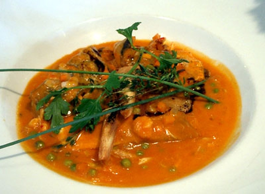 Neven's Recipes - sea bass and prawn chowder