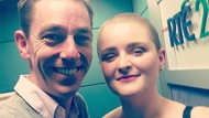 Louise McSharry pictured with Ryan Tubridy today after appearing on 2fm