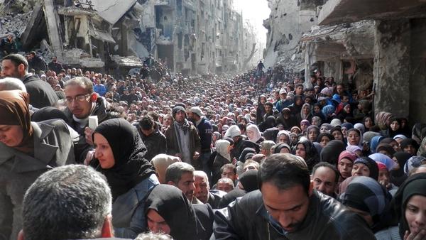 Yarmouk Camp in early 2014 (Pic: UNWRA)