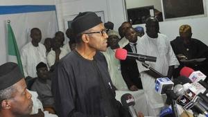 Muhammadu Buhari took 15.4 million votes to Goodluck Jonathan's 13.3m