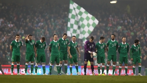 The Ireland XI ready to go into battle against Group D leaders Poland...