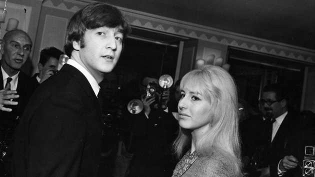 Lennon pictured with his first wife, Cynthia