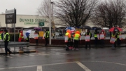 Mandate members on the picket line outside Dunnes Stores, Cornelscourt in Co Dublin
