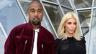 Kanye West and wife Kim Kardashian West