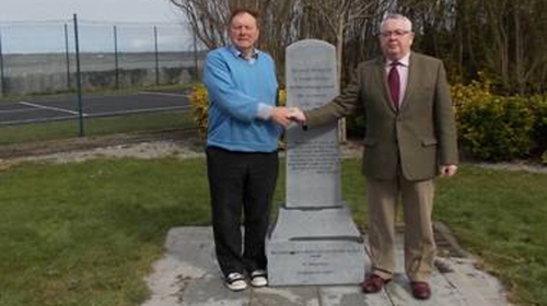 Thomas Wall, survivor and author of a book on St Joseph's School and Tom Hayes (R) survivor and leader of the Glin Project at the memorial