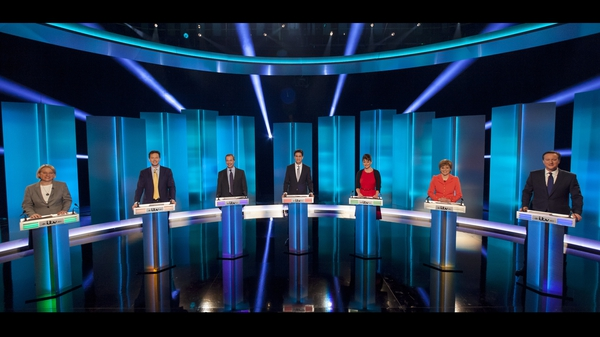 Seven political leaders are taking part in the televised debate