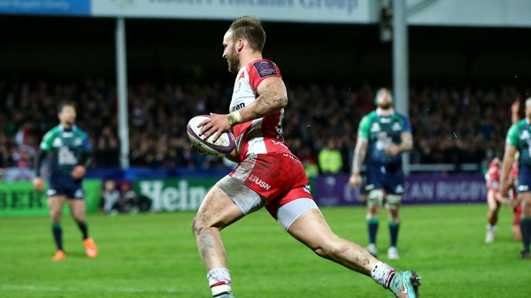 Bill Meakes scored the second try for Gloucester