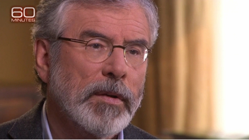 Gerry Adams says he was not a member of the IRA in the interview