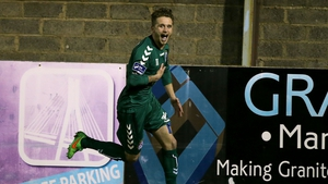 Marc Griffin celebrates his winning goal