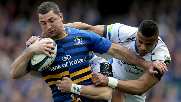 Leinster's Rob Kearney with Horacio Agulla and Anthony Watson of Bath