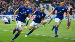 Andy King, pictured during last week's draw with West Ham, became a regular at Leicester when they were languishing in League One