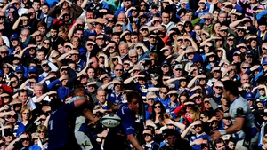 Leinster fans watch their side in action against Bath in the quarter-finals of the Champions Cup