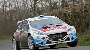Craig Breen leads at the Ypres Rally