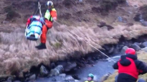 The incident happened just after 6am  (Pic:  Irish Coast Guard Rescue Helicopter)