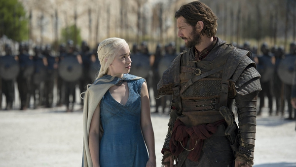 Emilia Clarke and Michiel Huisman in Game of Thrones