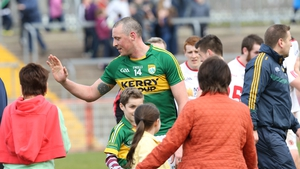 Kieran Donaghy looks for somebody - anybody - to give him a high five