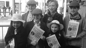 A few of the children of the Piccolo Lasso children's choir gather before their performance of traditional Irish songs popular in 1915 (Pic: Annemarie Grenham)