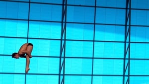 Tom Daley of Great Britain in action during a training session at the London Aquatics Centre