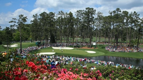 The 16th green at Augusta National