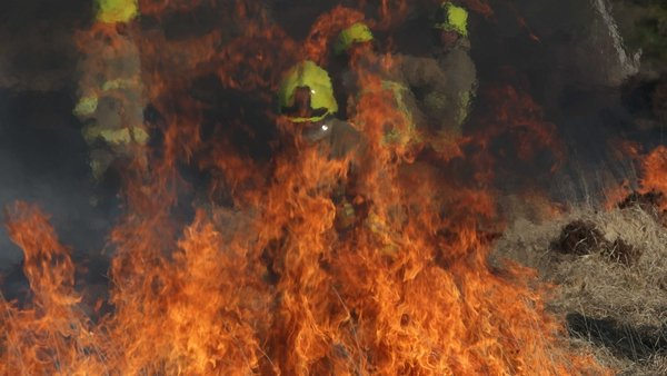 The fire which broke out on Ben Dash, Co Clare was one of the largest fires of 2015