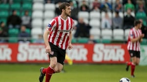Derry City's Stephen Dooley spurned a number of decent chances at the Brandywell