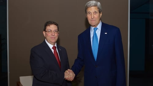 Bruno Rodriguez and John Kerry were said to have made progress after 'very constructive discussions'