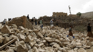 About 150,000 people have been displaced by the fighting in Yemen