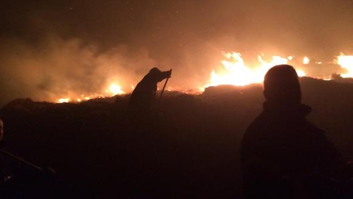 Tallaght firefighters stopped the blaze in the Bohernabreena area from spreading