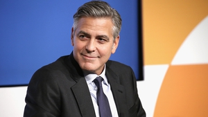 George Clooney is back in action after sustaining injuries in a road accident