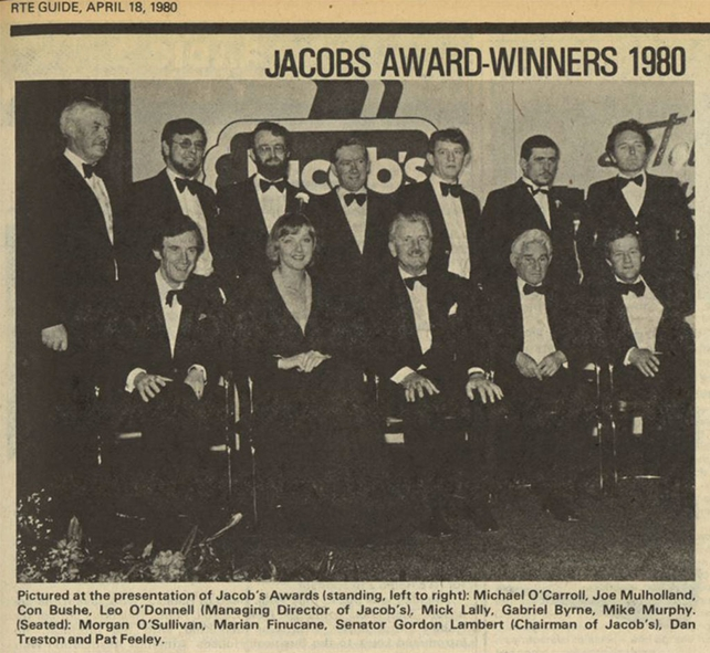 RTÉ Guide 18 April 1980 Jacob's Awards Winners