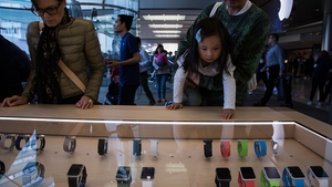 This quarter was the first to include sales of the Apple Watch - but the company did not give details on its performance