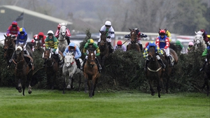Runners clear The Chair (15th fence) in last season's Grand National